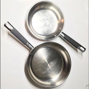 2 Farberware Millennium Skillet Set Soft Touch Pan